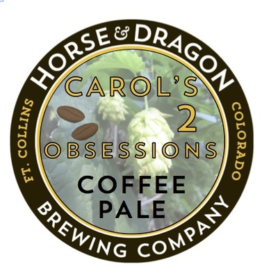 Carol's 2 Obsessions Coffee Pale logo.