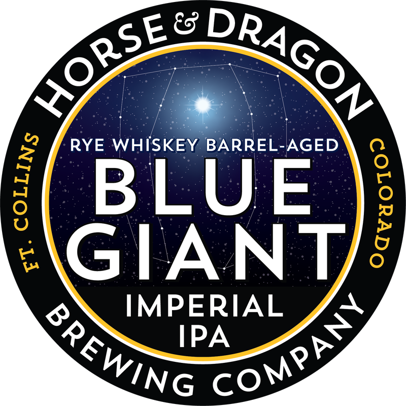 Blue Giant Imperial IPA (barrel-aged) logo.
