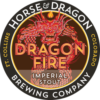 Dragonfire Imperial Stout logo.