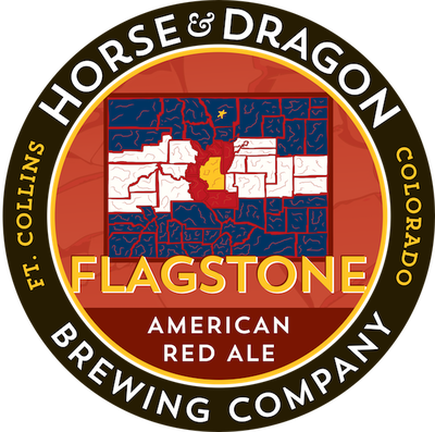 Flagstone American Red Ale logo.