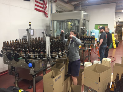 Bottling line in action.