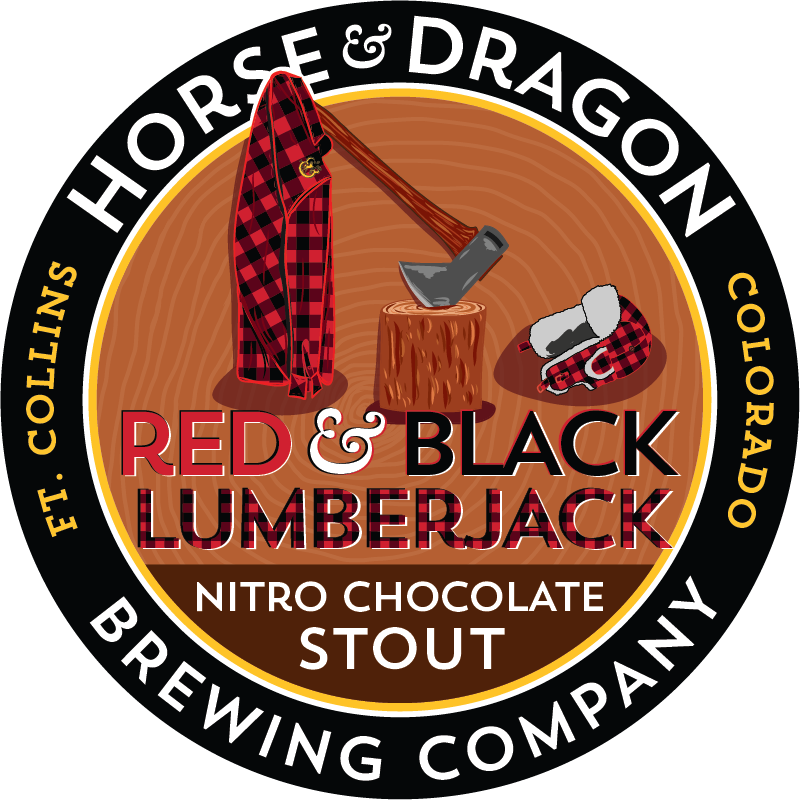 Red & Black Lumberjack Nitro Chocolate Stout
