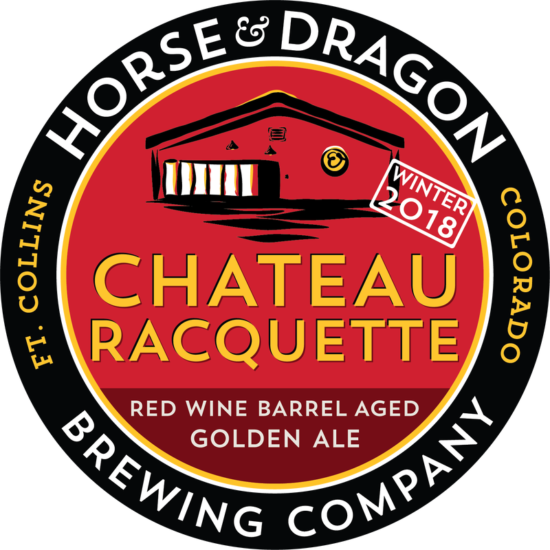 Chateau Racquette Winter 2018 Red Wine Barrel Aged Golden Ale